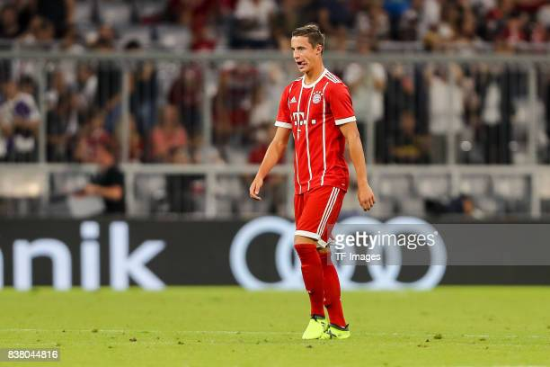 Marco Friedl of Munich looks dejected during the Audi Cup 2017 match between Bayern Muenchen and Liverpool FC at Allianz Arena on August 1 2017 in...