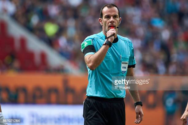 Marco Fritz looks on during the Bundesliga match between FC Augsburg and Borussia Dortmund at WWKArena on September 30 2017 in Augsburg Germany