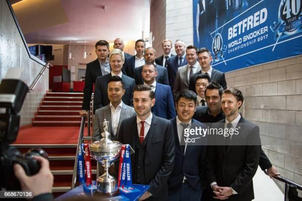 Marco Fu of Hong Kong Ding Junhui of China Ronnie O'Sullivan of England Shaun Murphy of England Kyren Wilson of England Allister Carter of England...