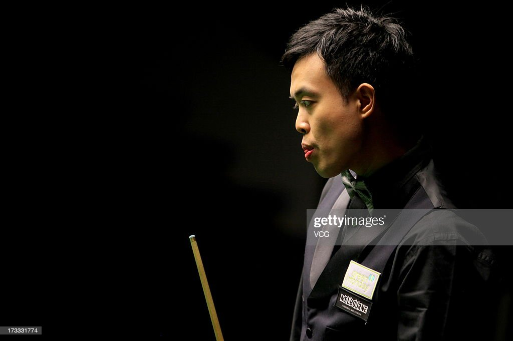 Marco Fu of Hong Kong looks on during the quarter-final match against Dominic Dale of Wales on day four of the World Snooker Australia Open at the Bendigo Stadium on July 12, 2013 in Bendigo, Australia.