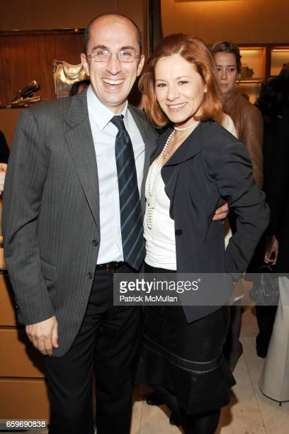 Marco Giacometti and Nicoletta Giordani attend TOD'S and VOGUE Event to Benefit SAVE VENICE at TOD'S on March 11 2009 in New York