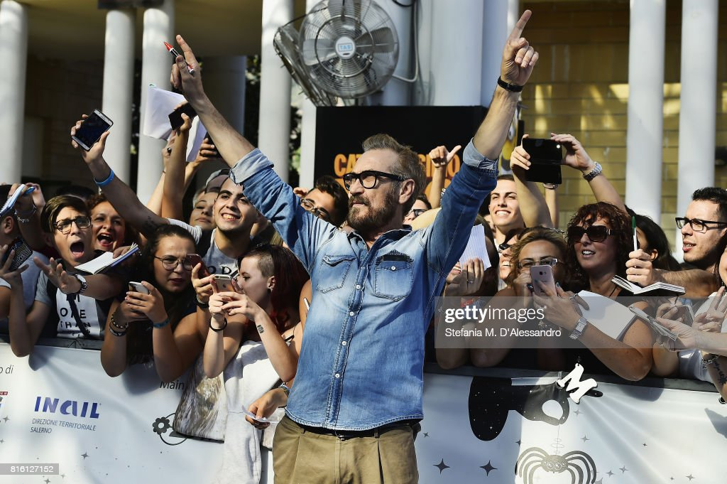 Marco Giallini attends Giffoni Film Festival 2017 Day 4 Blue Carpet on July 17, 2017 in Giffoni Valle Piana, Italy.