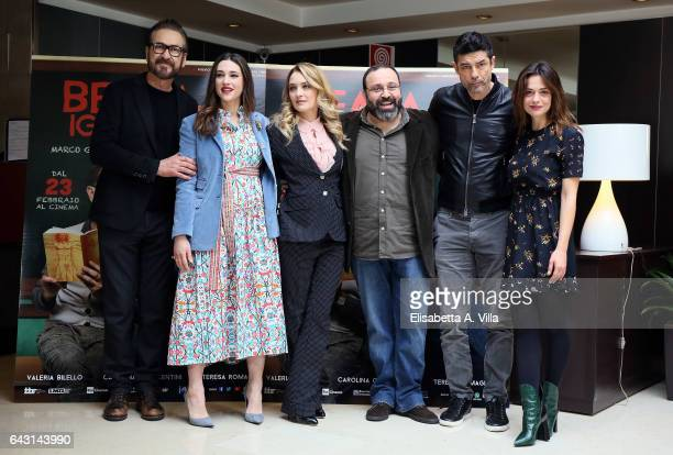 Marco Giallini Teresa Romagnoli Carolina Crescentini director Massimiliano Bruno Alessandro Gassman and Valeria Bilello attend a photocall for 'Beata...