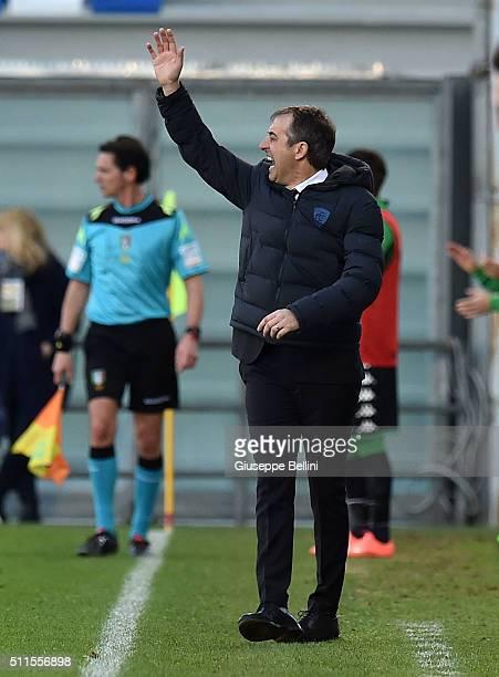Marco Giampaolo head coach of Empoli during the Serie A match between US Sassuolo Calcio and Empoli FC at Mapei Stadium Città del Tricolore on...