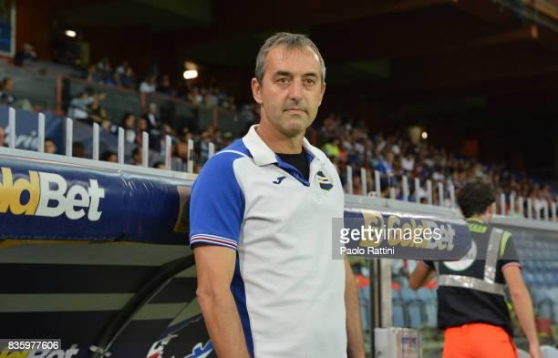 Marco Giampaolo head coach of Sampdoria during the Serie A match between UC Sampdoria and Benevento Calcio at Stadio Luigi Ferraris on August 20 2017...