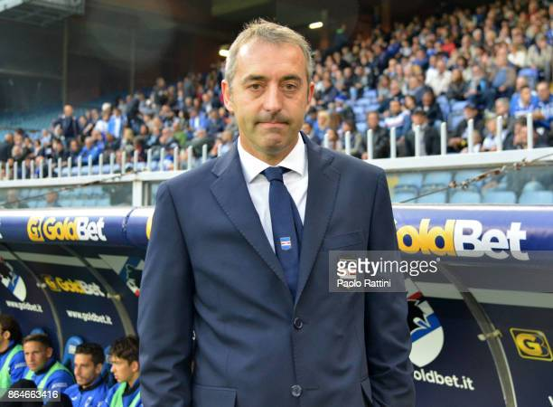 Marco Giampaolo head coach of Sampdoria Team during the Serie A match between UC Sampdoria and FC Crotone at Stadio Luigi Ferraris on October 21 2017...