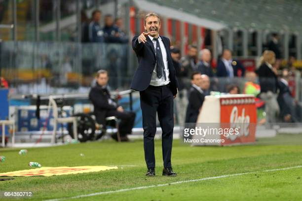 Marco Giampaolo head coach of Uc Sampdoria gestures during the Serie A match between FC Internazionale and Uc Sampdoria UC Sampdoria wins 21 over...