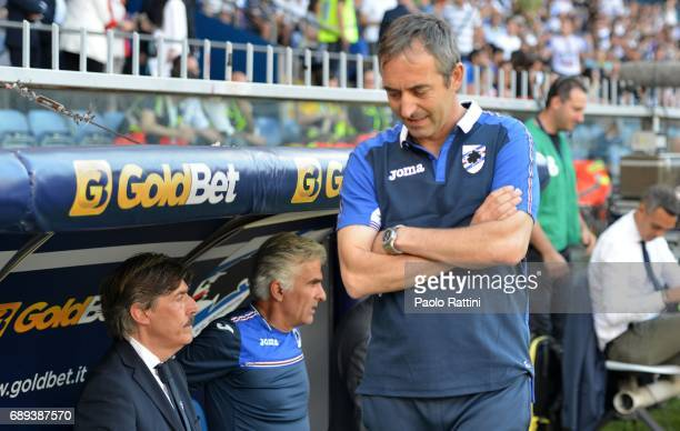 Marco Giampaolo head coch of Sampdoria during the Serie A match between UC Sampdoria and SSC Napoli at Stadio Luigi Ferraris on May 28 2017 in Genoa...