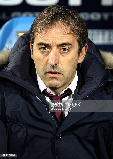 Marco Giampaolo manager of Empoli FC during the Serie A match between Empoli FC and SS Lazio at Stadio Carlo Castellani on November 29 2015 in Empoli...