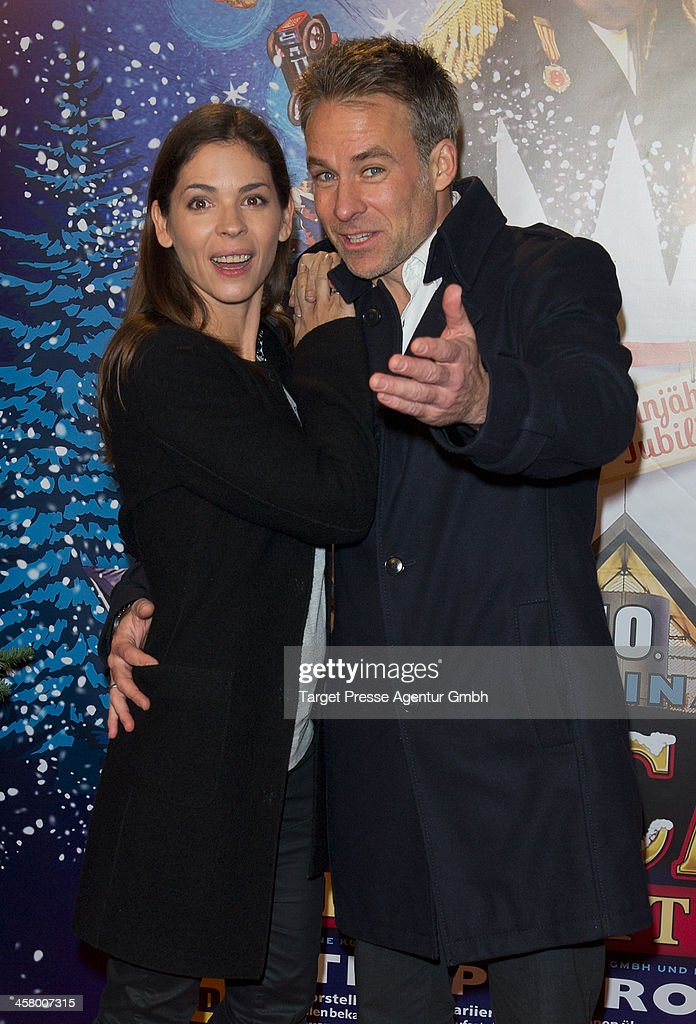 Marco Girnth and his wife Katja Woywood attend the 10th Roncalli Christmas Circus at Tempodrom on December 19, 2013 in Berlin, Germany.