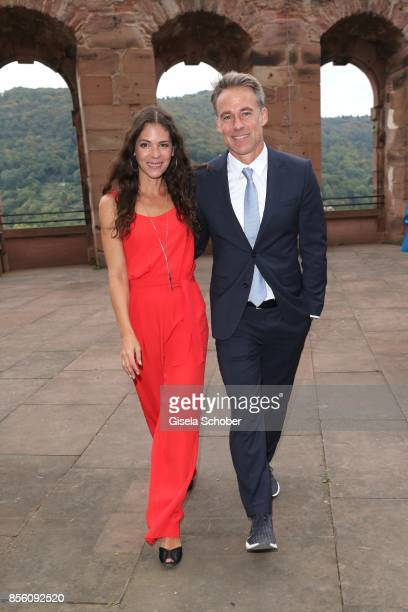HEIDELBERG GERMANY SEPTEMBER Marco Girnth and his wife Katja Woywood during the church wedding of Erdogan Atalay and Katja Ohneck at Heidelberg...