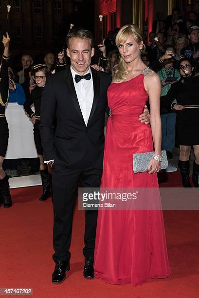 Marco Girnth and Melanie Marschke attend the Opera Ball Leipzig at Opernhaus on October 18 2014 in Leipzig Germany