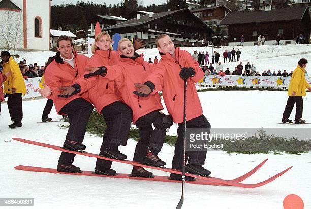 Marco Girnth Anja FichtelMauritz Barbara Schöne Thomas Hackenberg RTLOpenAirSpielShow 'Stars gegen Stars' am Seefeld in Tirol Österreich