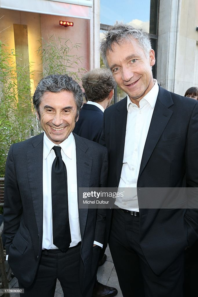 Marco Gobbetti and Geoffroy De La Bourdonnais attend the Chambre Syndicale de la Haute Couture cocktail party at Palais De Tokyo on July 4, 2013 in Paris, France.