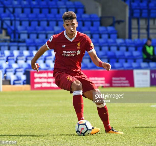 OUT Marco Grujic of Liverpool during the game at Prenton Park on September 10 2017 in Birkenhead England