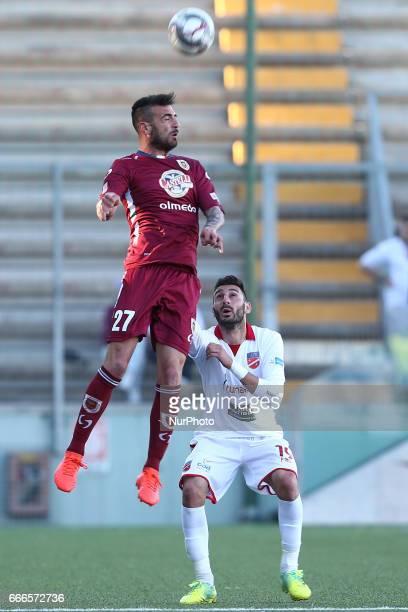 Marco Guidone attaccante dell'AC Reggiana in azione durante la gara di Lega Pro girone B tra Teramo Calcio 1913 e AC Reggiana presso lo stadio...