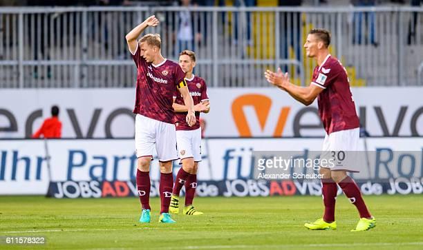 Marco Hartmann of Dresden reacts during the Second Bundesliga match between SV Sandhausen and SG Dynamo Dresden at Hardtwaldstadion on September 30...