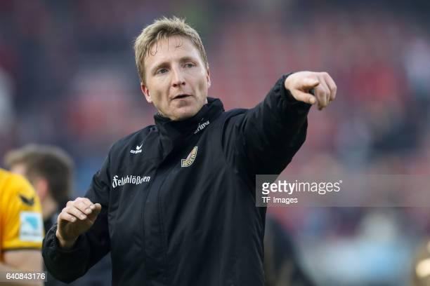 Marco Hartmann of Dynamo Dresden gestures during the Second Bundesliga match between 1 FC Nuernberg and SG Dynamo Dresden at Arena Nuernberg on...