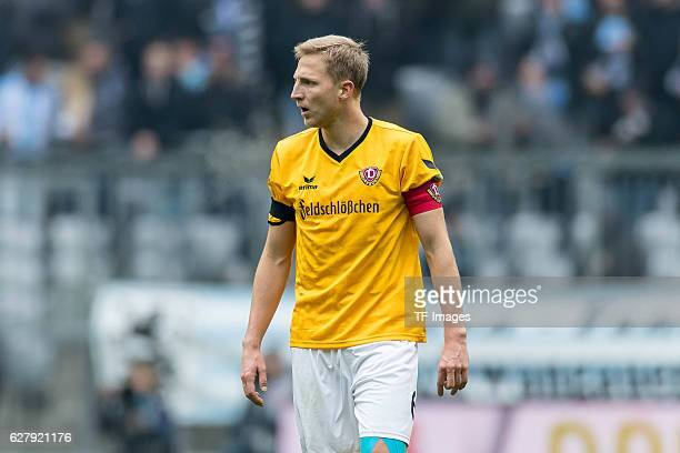 Marco Hartmann of Dynamo Dresden looks on during the Second Bandesliga match between TSV 1860 Muenchen and Dynamo Dresden at Allianz Arena on...