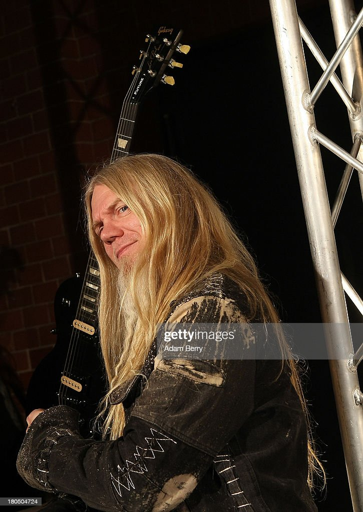 Marco Hietala, singer and bassist for Nightwish, arrives for the fifth Metal Hammer Awards at Kesselhaus on September 13, 2013 in Berlin, Germany. The annual prizes are given by Metal Hammer, a German music magazine specialized in Heavy Metal and Hard Rock.