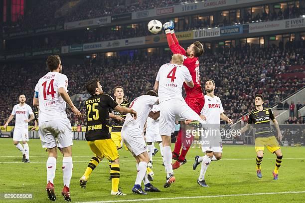 Marco Hoger of 1FC Koln Jonas Hector of 1FC Koln Sokratis Papastathopoulos of Borussia Dortmund Matthias Ginter of Borussia Dortmund Dominique Heintz...