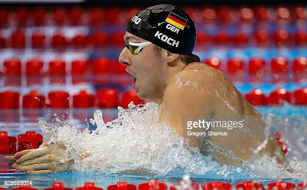 Marco Koch of Germany competes in a preliminary heat of the 200m Breaststroke on day three of the 13th FINA World Swimming Championships at the WFCU...