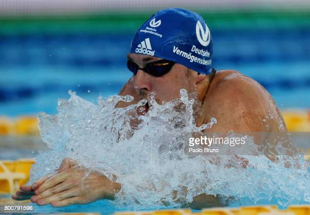 Marco Koch of Germany competes in the Men's 200m breaststroke final A during the 54th 'Sette Colli' international swimming trophy at Stadio del Nuoto...