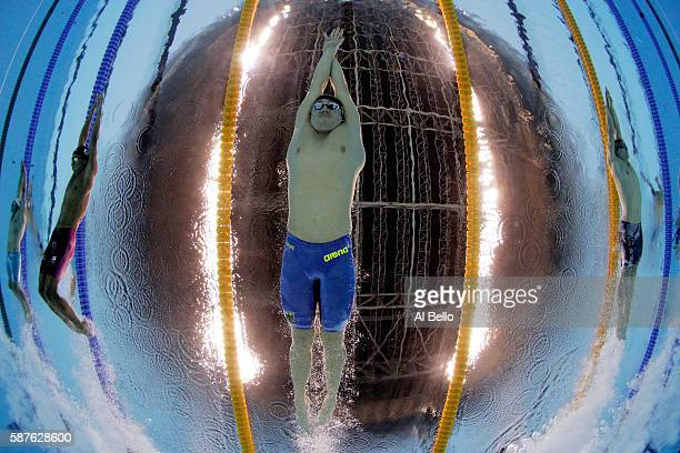 Marco Koch of Germany competes in the Men's 200m Breaststroke heat on Day 4 of the Rio 2016 Olympic Games at the Olympic Aquatics Stadium on August 9...