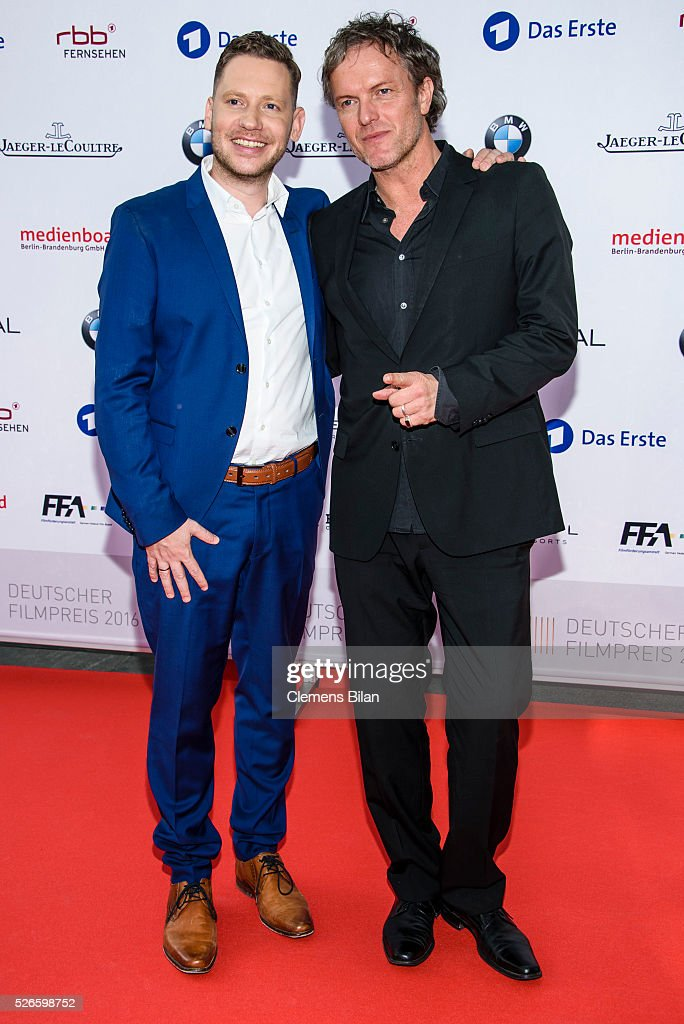 <a gi-track='captionPersonalityLinkClicked' href=/galleries/search?phrase=Marco+Kreuzpaintner&family=editorial&specificpeople=636556 ng-click='$event.stopPropagation()'>Marco Kreuzpaintner</a> (L) and Christoph Mueller attend the nominee dinner for the German Film Award 2015 Lola (Deutscher Filmpreis) on April 30, 2016 in Berlin, Germany.