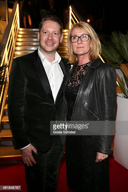 Marco Kreuzpaintner and Gabriela Bacher attend the German reception during the 67th Annual Cannes Film Festival on May 17 2014 in Cannes France