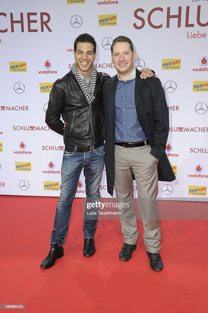 Marco Kreuzpaintner and Gilardi attend the 'Der Schlussmacher' Berlin Premiere at Cinestar Potsdamer Platz on January 7, 2013 in Berlin, Germany.