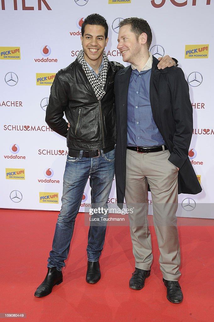Marco Kreuzpaintner and Gilardi attend the 'Der Schlussmacher' Berlin Premiere at Cinestar Potsdamer Platz on January 7, 2013 in Berlin, Germany.