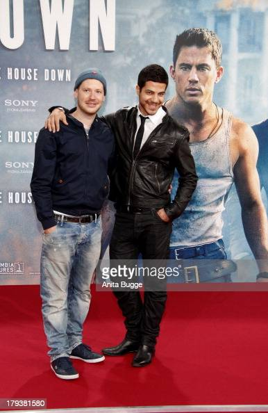 Marco Kreuzpaintner and Gilardi attend the 'White House Down' Germany premiere at CineStar on September 2 2013 in Berlin Germany