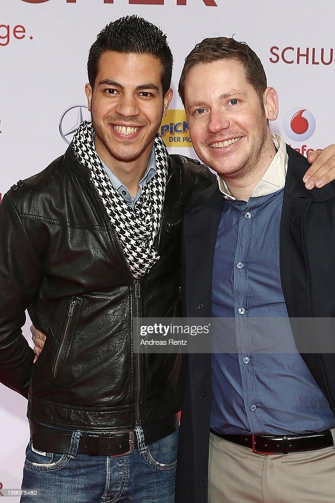 Marco Kreuzpaintner and husband Gilardi attends the 'Der Schlussmacher' Berlin Premiere at Cinestar Potsdamer Platz on January 7, 2013 in Berlin, Germany.