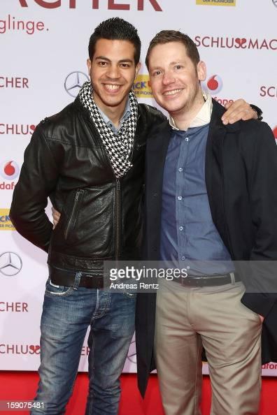 Marco Kreuzpaintner and husband Gilardi attends the 'Der Schlussmacher' Berlin Premiere at Cinestar Potsdamer Platz on January 7 2013 in Berlin...