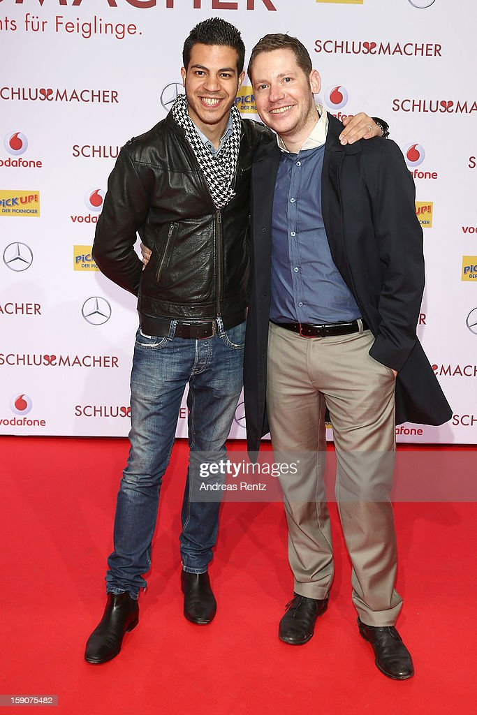 Marco Kreuzpaintner and husband Gilardi attends the 'Der Schlussmacher' Berlin Premiere at Cinestar Potsdamer Platz on January 7, 2013 in Berlin, Germany.