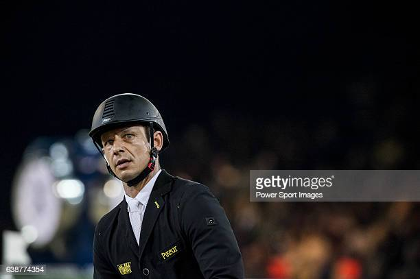Marco Kutscher of Germany riding Cornet's Cristallo in action during the Longines Grand Prix as part of the Longines Hong Kong Masters on 15 February...