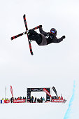 Marco Ladner of Austria competes in the FIS Freestyle Ski World Cup Halfpipe Finals during the Winter Games NZ at Cardrona Alpine Resort on August 23...