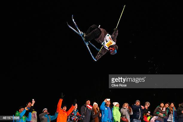Marco Ladner of Austria competes in the Men's Ski Halfpipe Finals during the FIS Freestyle Ski and Snowboard World Championships 2015 on January 22...