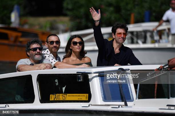Marco Manetti Antonio Manetti Giampaolo Morelli and Serena Rossi are seen during the 74 Venice Film Festival on September 5 2017 in Venice Italy