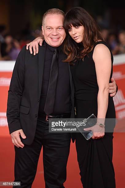 Marco Marzocca and Valentina Lodovini attend the 'Buoni A Nulla' Red Carpet during The 9th Rome Film Festival at Auditorium Parco Della Musica on...