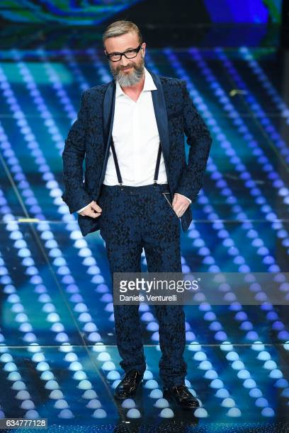 Marco Masini attends the closing night of 67th Sanremo Festival 2017 at Teatro Ariston on February 11 2017 in Sanremo Italy