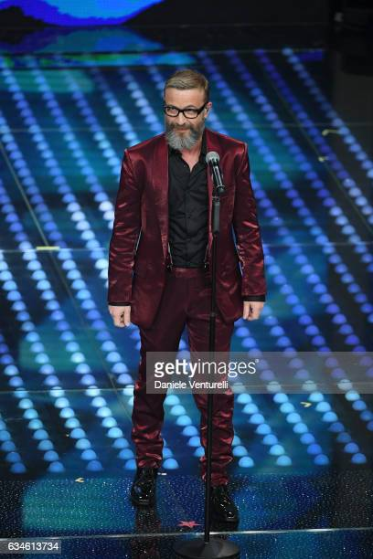 Marco Masini attends the fourth night of the 67th Sanremo Festival 2017 at Teatro Ariston on February 10 2017 in Sanremo Italy