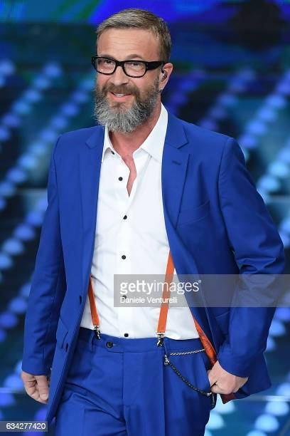 Marco Masini attends the second night of the 67th Sanremo Festival 2017 at Teatro Ariston on February 8 2017 in Sanremo Italy