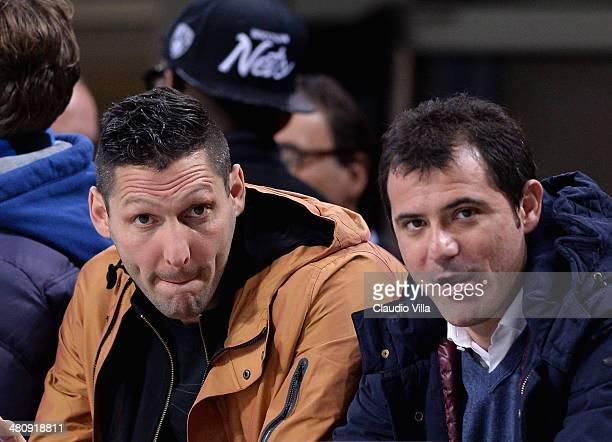 Marco Materazzi and Dejan Stankovic attend the Serie A match between FC Internazionale Milano and Udinese Calcio at San Siro Stadium on March 27 2014...