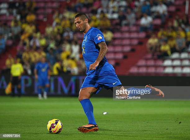 Marco Materazzi of Team Cannavaro kicks the ball during the Global Legends Series match at the SCG Stadium on December 5 2014 in Bangkok Thailand
