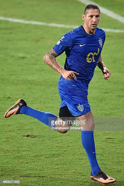 Marco Materazzi of Team Cannavaro runs during the Global Legends Series match at the SCG Stadium on December 5 2014 in Bangkok Thailand