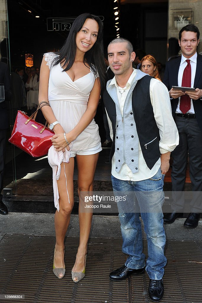 <a gi-track='captionPersonalityLinkClicked' href=/galleries/search?phrase=Marco+Melandri&family=editorial&specificpeople=204382 ng-click='$event.stopPropagation()'>Marco Melandri</a> and Manuela Raffaeta are seen on September 20, 2011 in Milan, Italy.