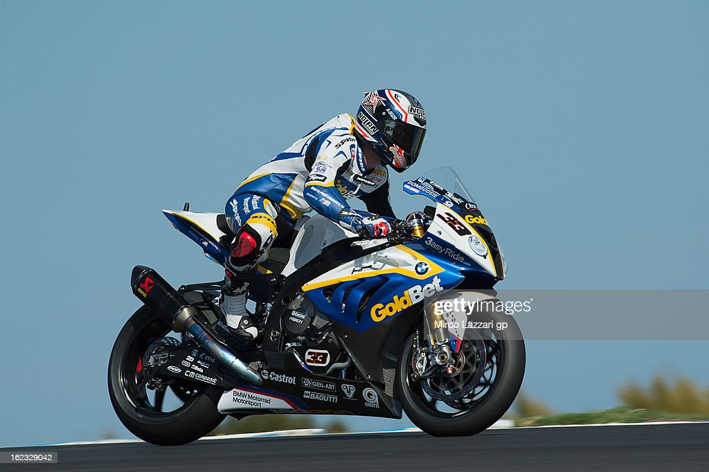 Marco Melandri of Italy and BMW Motorrad GoldBet SBK heads down a straight during qualifying practice ahead of the World Superbikes at Phillip Island Grand Prix Circuit on February 22, 2013 in Phillip Island, Australia.