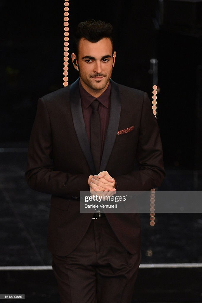 Marco Mengoni attend the closing night of the 63rd Sanremo Song Festival at the Ariston Theatre on February 16, 2013 in Sanremo, Italy.